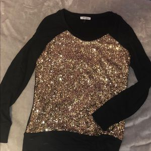 Sweaters - Gold Sparkly Sweater